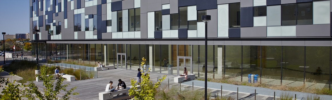 a picture of the life sciences building terrace